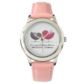Birds Cartoon Cute Nostalgic Romantic Tender Chic Watch
