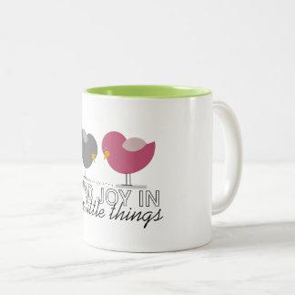 Birds Cartoon Tender Nostalgic Encouragement Cute Two-Tone Coffee Mug