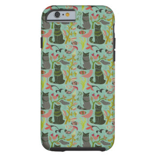 Birds Cats And Flowers Retro Small Pattern Tough iPhone 6 Case