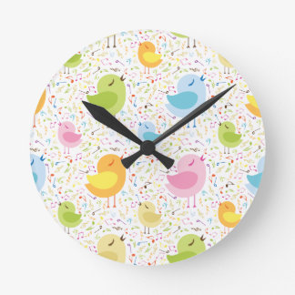 Birds Chirping with Musical Pattern Clock