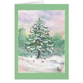 """'Birds' Christmas"""" watercolor Card"""