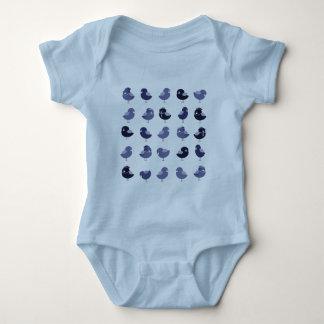 Birds Cute Cartoon Blue Bright Cheerful Baby Boy Baby Bodysuit