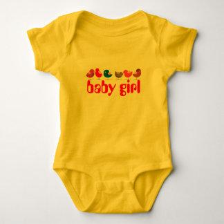 Birds Cute Cartoon Colorful Bright Lovely Cheerful Baby Bodysuit