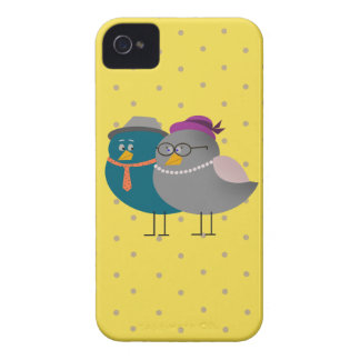 Birds Cute Love Forever Dots Pattern iPhone 4 Case-Mate Cases