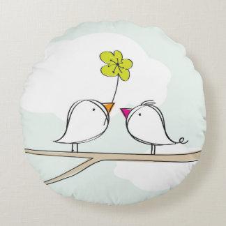 BIRDS cute Round Pillow