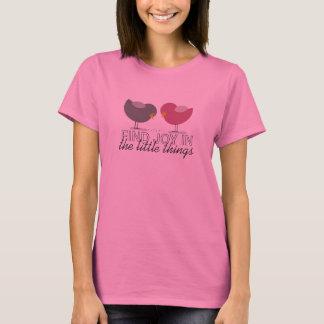 Birds Cute Tender Cartoon Good Life Warm Message T-Shirt