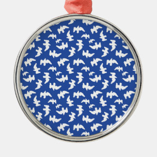 Birds Drawing Pattern Design Metal Ornament