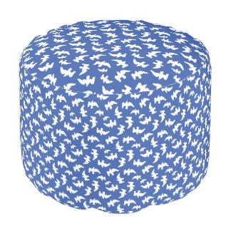 Birds Drawing Pattern Design Pouf