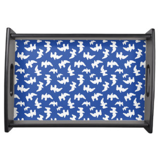 Birds Drawing Pattern Design Serving Tray