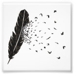 Birds Erupting of a Feather Photographic Print