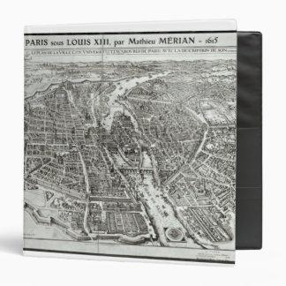 Bird's Eye Plan of Paris, 1615 3 Ring Binders