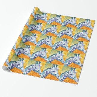 Bird's Eye View Giraffe Wrapping Paper