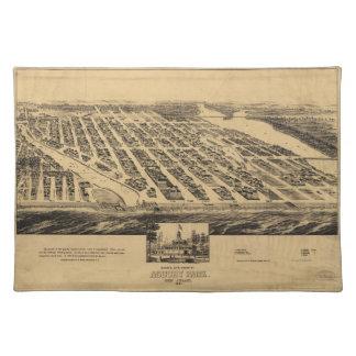 Bird's eye view Map Asbury Park New Jersey (1881) Place Mat