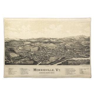 Bird's Eye View Map Morrisville Vermont (1889) Place Mats