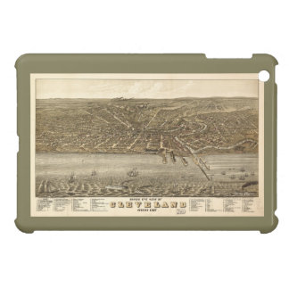 Birds eye view Map of Cleveland Ohio (1877) Case For The iPad Mini