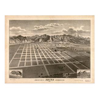Bird's Eye View of Azusa, California (1887) Postcard