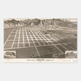 Bird's Eye View of Azusa, California (1887) Sticker