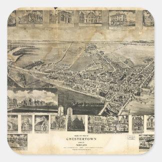 Bird's Eye View of Chestertown, Maryland (1907) Square Sticker