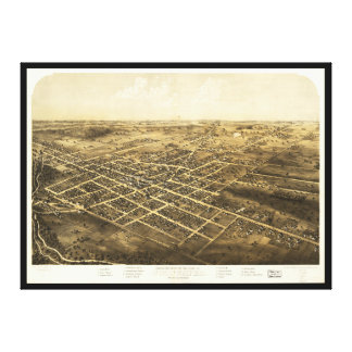 Bird's Eye View of Coldwater, Michigan (1868) Canvas Print