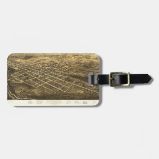 Bird's Eye View of Coldwater, Michigan (1868) Luggage Tag