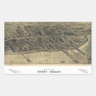 Bird's Eye View of Coney Island, New York (1906) Sticker