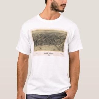 Bird's Eye View of Coney Island, New York (1906) T-Shirt