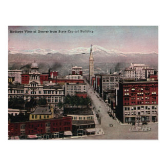 Bird's Eye View of Denver, CO in Early 1900's Postcard