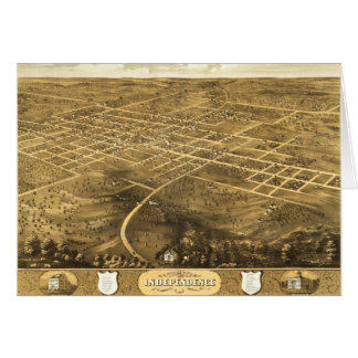 Bird's Eye View of Independence, Missouri (1868) Card