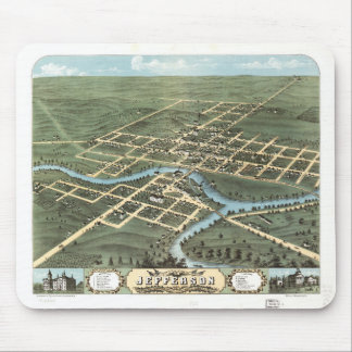 Bird's eye view of Jefferson Wisconsin (1870) Mouse Pad
