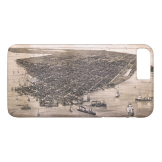Bird's Eye View of Key West, Florida (1884) iPhone 8 Plus/7 Plus Case
