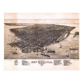Bird's Eye View of Key West, Florida (1884) Postcard