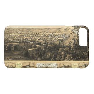 Bird's Eye View of Michigan City, Indiana (1869) iPhone 7 Plus Case