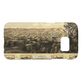 Bird's Eye View of Michigan City, Indiana (1869) Samsung Galaxy S7 Case
