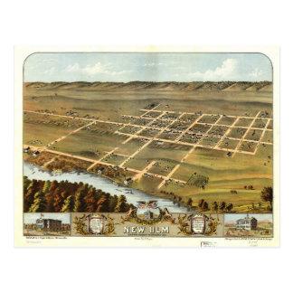 Bird's eye view of New Ulm, Minnesota (1870) Postcard