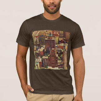 Bird's-Eye View of New York City by John Falter T-Shirt