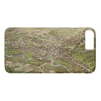 Bird's eye view of Newport, New Hampshire (1877) iPhone 8 Plus/7 Plus Case