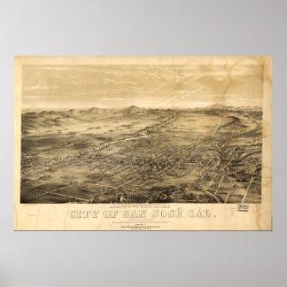 Bird's Eye View of San Jose, California (1869) Poster