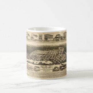 Birds-eye view of Snohomish, Washington (1890) Coffee Mug