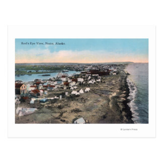 Bird's Eye View of TownNome, AK Postcard