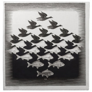 birds fish napkin