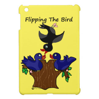 Birds Flipping The Bird iPad Mini Cover