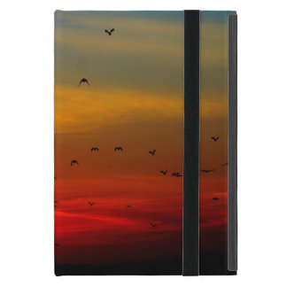 Birds Fly Into Beautiful Sunset iPad Mini Case