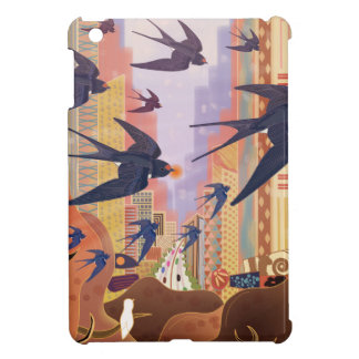Birds Flying in the City Case For The iPad Mini
