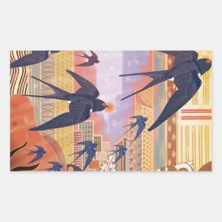 Birds Flying in the City Sticker
