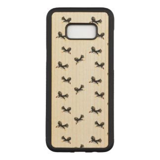 Birds Flying Puffins Pattern Carved Samsung Galaxy S8+ Case