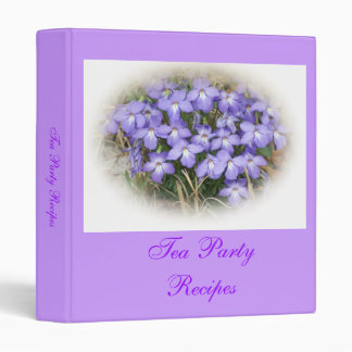 Bird's Foot Violet Recipe Binder
