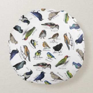 Birds garden round pillow