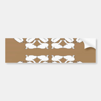 Birds_gold_cute_design blanc de Birds_Funny_love Adhésifs Pour Voiture