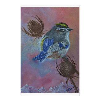 Birds  Golden-crowned Kinglet Stationery