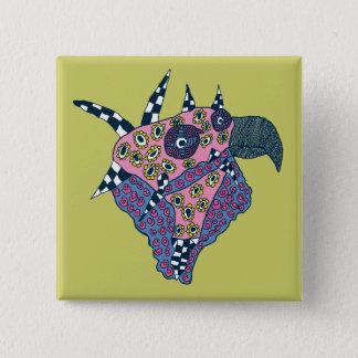 Bird's Head 2 Inch Square Button